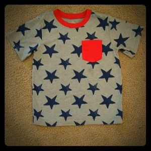 Other - Fourth of July Star T-shirt Red Gray Blue 5 T
